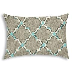 TENNY Gray Indoor/Outdoor Pillow - Sewn Closure