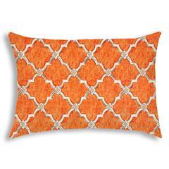 TENNY Orange Indoor/Outdoor Pillow - Sewn Closure