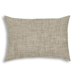 WEAVE Light Taupe Indoor/Outdoor Pillow - Sewn Closure