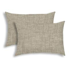 WEAVE Light Taupe Indoor/Outdoor Pillow - Sewn Closure (Set of 2)