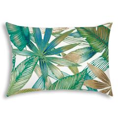 BRAZILIA Turquoise Indoor/Outdoor Pillow - Sewn Closure