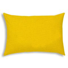VALENA Bright Yellow Indoor/Outdoor Pillow - Sewn Closure