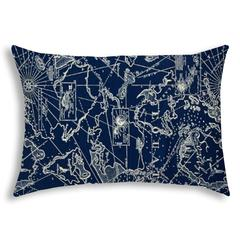 BAHAMA BREEZE Navy Indoor/Outdoor Pillow - Sewn Closure