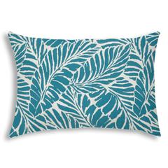 MALKIN Teal Indoor/Outdoor Pillow - Sewn Closure