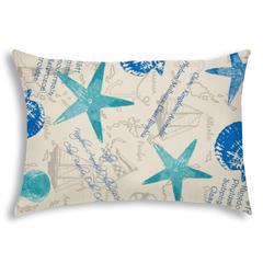 CAPTIVA Turquoise Indoor/Outdoor Pillow - Sewn Closure