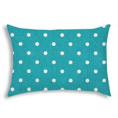 DINER DOT Turquoise Indoor/Outdoor Pillow - Sewn Closure