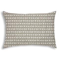 TREK Taupe Indoor/Outdoor Pillow - Sewn Closure