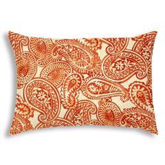 ELIO Orange Indoor/Outdoor Pillow - Sewn Closure