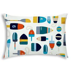 BUOY White Indoor/Outdoor Pillow - Sewn Closure