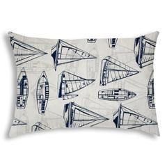 RUMMY Navy Indoor/Outdoor Pillow - Sewn Closure