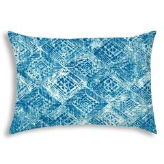 REMEDIA Blue Indoor/Outdoor Pillow - Sewn Closure