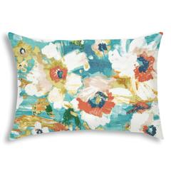 AMORE Turquoise Indoor/Outdoor Pillow - Sewn Closure