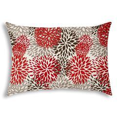 BURSTING BLOOMS Brown Indoor/Outdoor Pillow - Sewn Closure