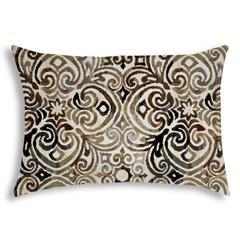 KOLKATA Black Indoor/Outdoor Pillow - Sewn Closure