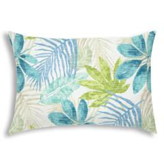 SPRING LEAVES White Indoor/Outdoor Pillow - Sewn Closure