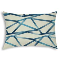 INTERSECT Navy Indoor/Outdoor Pillow - Sewn Closure