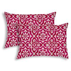 ATHENIA Raspberry Indoor/Outdoor Pillow - Sewn Closure (Set of 2)