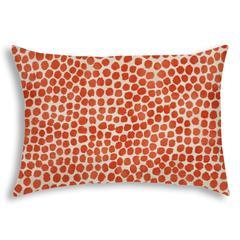 SWEET PUFF Orange Indoor/Outdoor Pillow - Sewn Closure