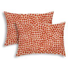 SWEET PUFF Orange Indoor/Outdoor Pillow - Sewn Closure (Set of 2)