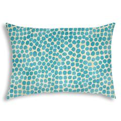 SWEET PUFF Turquoise Indoor/Outdoor Pillow - Sewn Closure