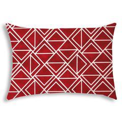 TRIOMINO Red Indoor/Outdoor Pillow - Sewn Closure