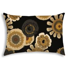 FAR OUT Black Indoor/Outdoor Pillow - Sewn Closure