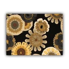 FAR OUT Black Indoor/Outdoor Placemat - Finished Edge