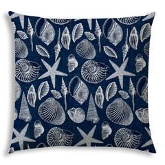 MARCO ISLAND Navy Jumbo Indoor/Outdoor - Zippered Pillow Cover