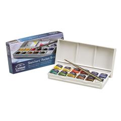 Winsor & Newton Cotman Watercolor Paint Sketchers' Pocket Box Set