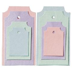 Blue Hills Studio Treasure Chest Tag Set Pastel Metallic Sheen Classic