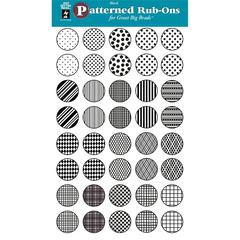 Hot Off the Press Circle Rub-On Black Pattern