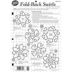 "Hot Off the Press 8.5"" x 12"" Papercrafting Template Fold-Back Swirls"