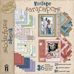 12 x 12 Paper Pack Vintage
