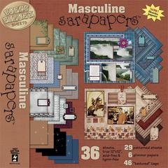 sarapapers 12 x 12 Paper Pack Masculine