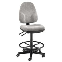 Alvin Medium Gray High Back Drafting Height Monarch Chair