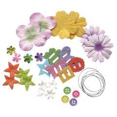 Blue Hills Studio Irene's Garden Potpourri Paper Flower & Embellishment Pack Rainbow