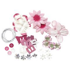 Potpourri Paper Flower & Embellishment Pack Pinks