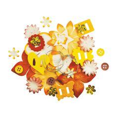 Blue Hills Studio Irene's Garden Potpourri Paper Flower & Embellishment Pack Yellows