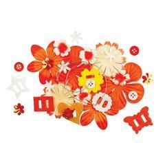 Potpourri Paper Flower & Embellishment Pack Oranges