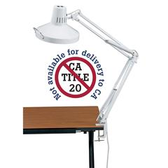 White Swing-Arm Combination Lamp