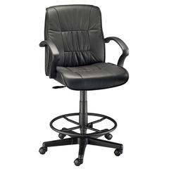 Alvin Art Director Executive Leather Chair Drafting Height