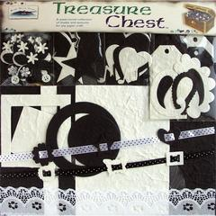 Blue Hills Studio Treasure Chest 14 x 12 Paper Collection Premium Décor Kit Onyx & Pearl