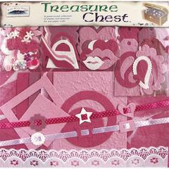 Blue Hills Studio Treasure Chest 15 x 12 Paper Collection Premium Décor Kit Pink Tourmaline