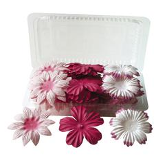 Blue Hills Studio Irene's Garden Box O'Blooms Flower Pack Pink/Hot Pink
