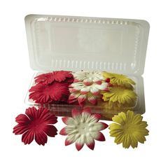 Blue Hills Studio Irene's Garden Box O'Blooms Flower Pack Red/Cream/Yellow