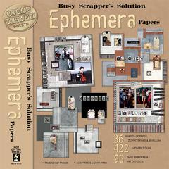 12 x 12 Paper Pack Ephemera