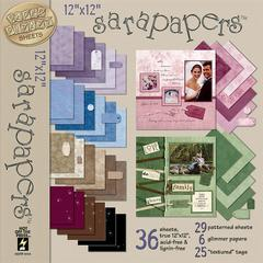 12 x 12 Paper Pack Jewel Tone Combo
