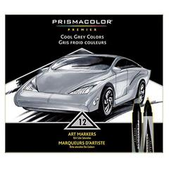 Premier Art Marker 12-Color Cool Grey Set