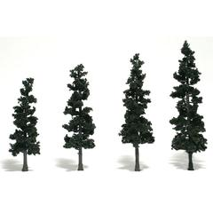 """Woodland Scenics 4""""-6"""" Ready Made Tree Value Pack Conifer"""