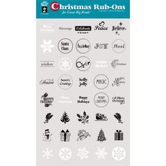 Circle Rub-On Christmas